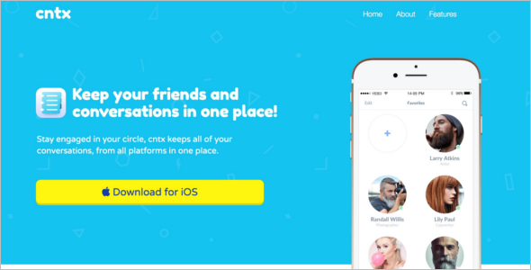 Mobile Gaming Landing Page Template