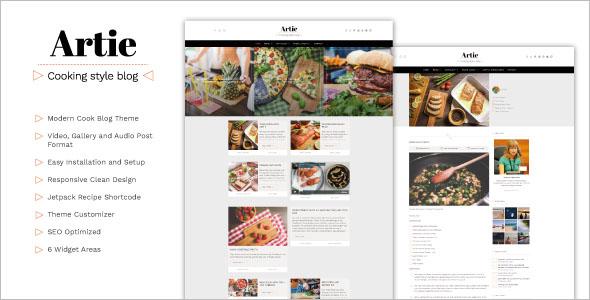 Modern Food Blog WordPress Theme