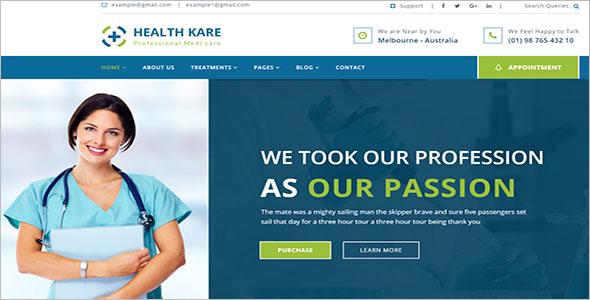 Modern Health Care WordPress Theme