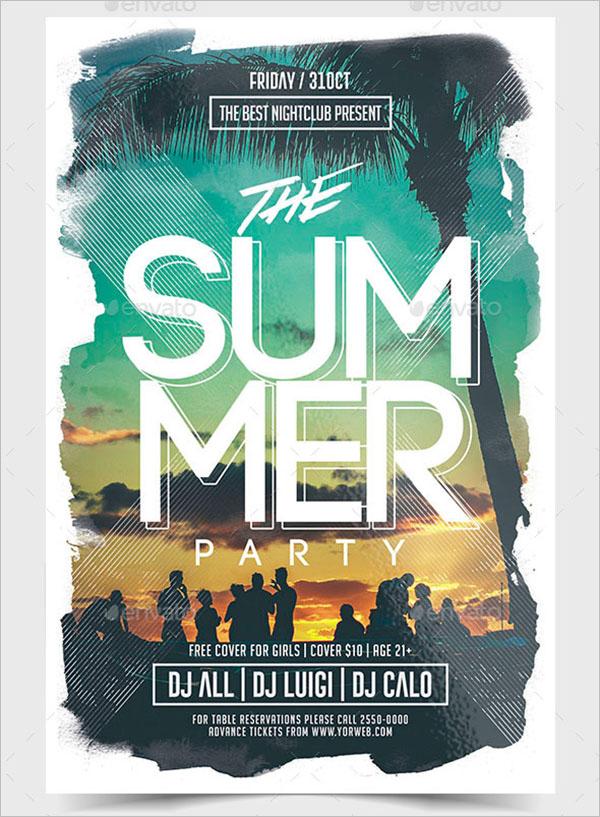 Modern Summer Party Flyer Template