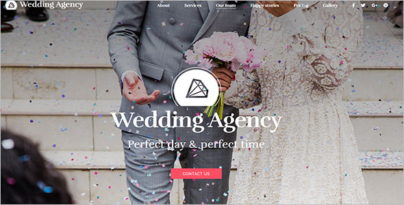 Most Beautiful Wedding Landing Page Template