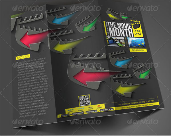 Movie Month Trifold Brochure Template