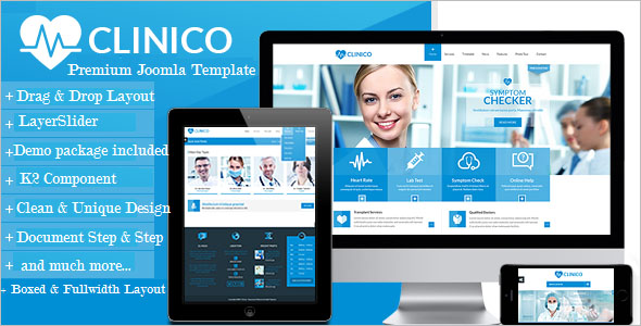 Multi Page Health Joomla Theme
