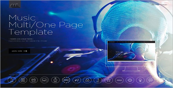 Multi Page Music Bootstrap Template