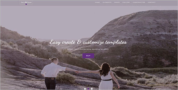 Multipage Wedding Landing Page Template