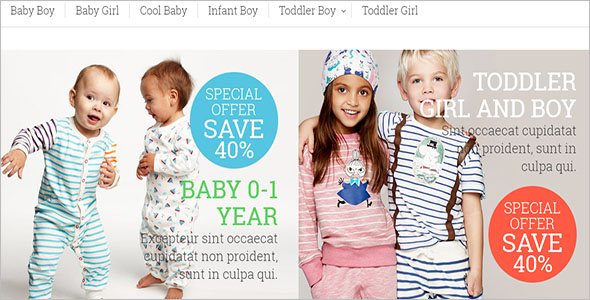 Multiple Kids Magento Theme