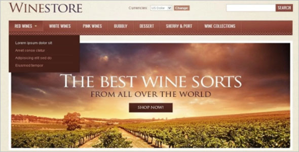 Multiple Wine Store VirtueMart Template