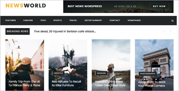 Multipurpose Magazine Bootstrap Template
