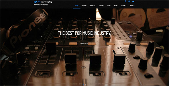 Multipurpose Music Bootstrap Template