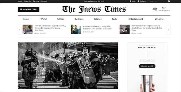Multipurpose Newspaper WordPress Theme