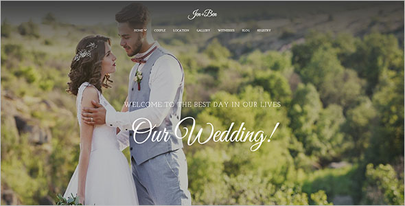 Multipurpose Wedding Bootstrap Theme