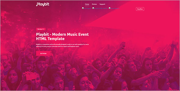 Music Band Template Bootstrap