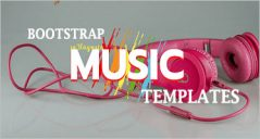 Music Bootstrap Templates