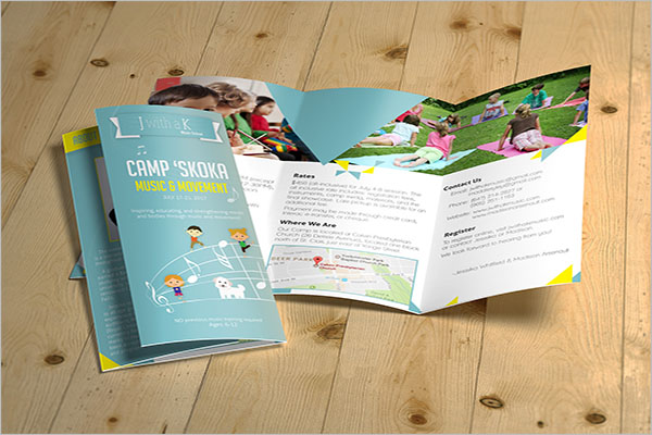 Music Camp Brochure Template