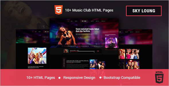 Music Club Bootstrap Template