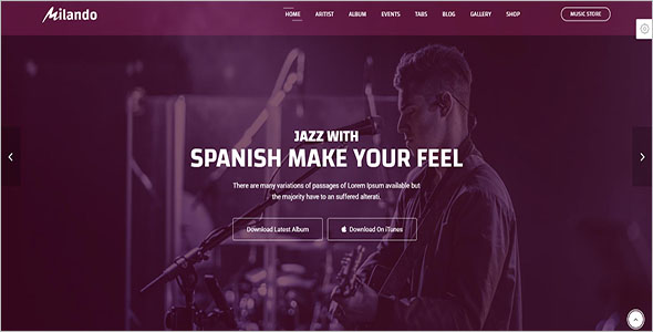 26+ Bootstrap Music Templates Free Website Templates