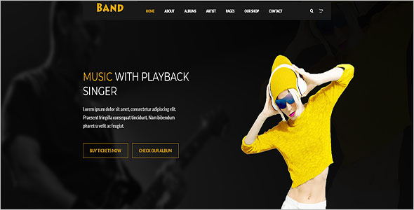 Music Player Website Theme