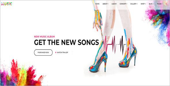 Music School Bootstrap Template