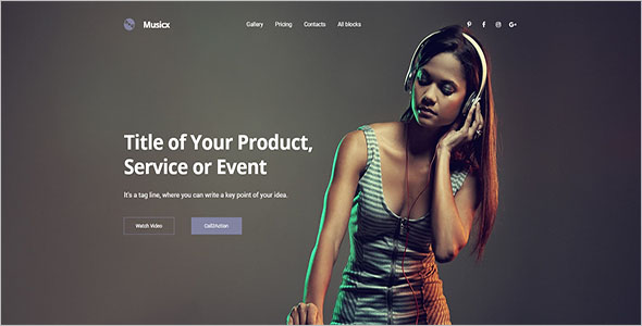 Best Music Bootstrap Template