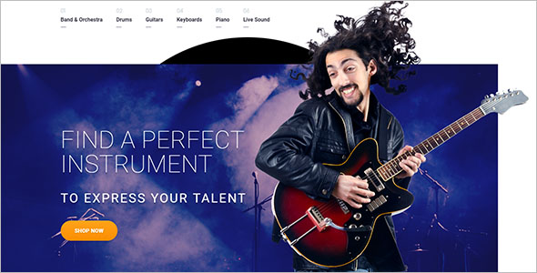Musical Instrument OpenCart Template