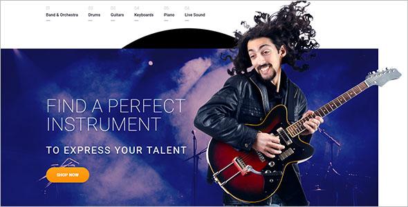 Musical Instrument OpenCart Template