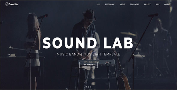 Musician Website Bootstrap Template