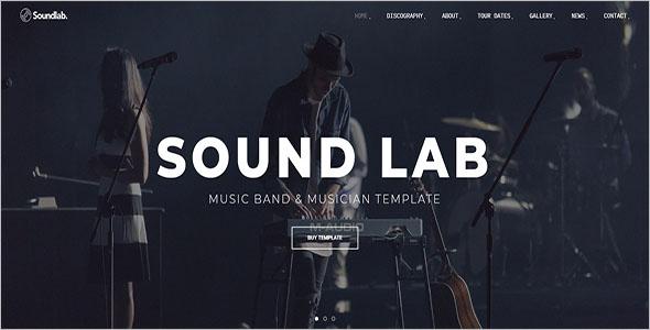 Musician Website Bootstrap Template