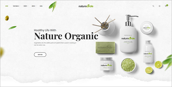 Nature Health Open Cart Theme