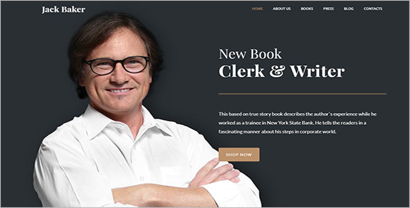 New Author Blog Template