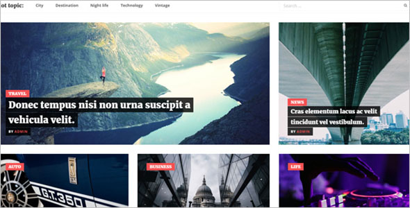 News Blog Theme Responsive