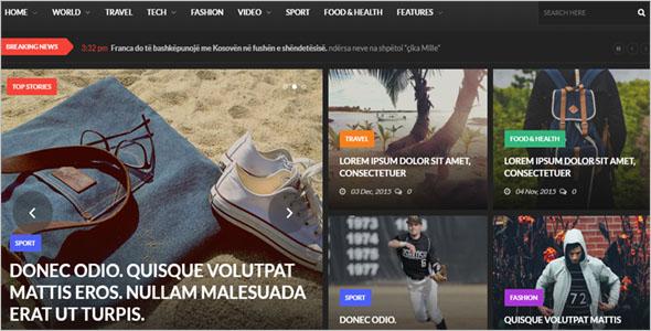 News Blog Website Theme