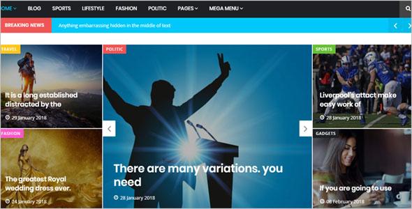 News Channel Blog Theme