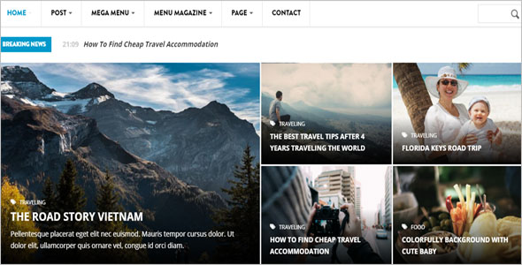 News Channel Drupal Theme