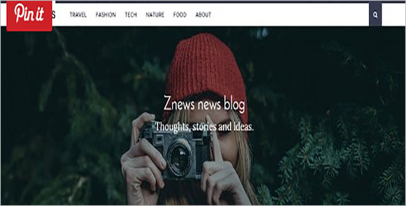 News Magazine Bootstrap Template
