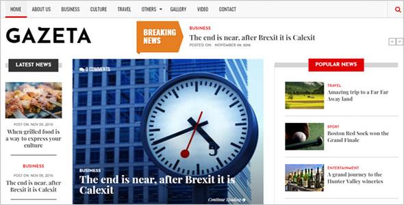 News Portal Drupal Theme