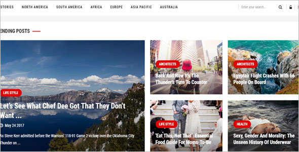 News Responsive Blog Theme