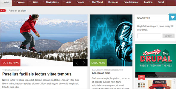 News Responsive Drupal Theme