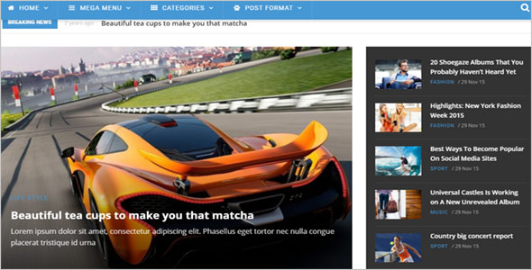 News Website Drupal Template