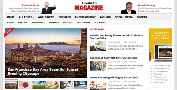 Newspaper WordPress Website Theme