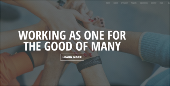 Nonprofit Bootstrap Template