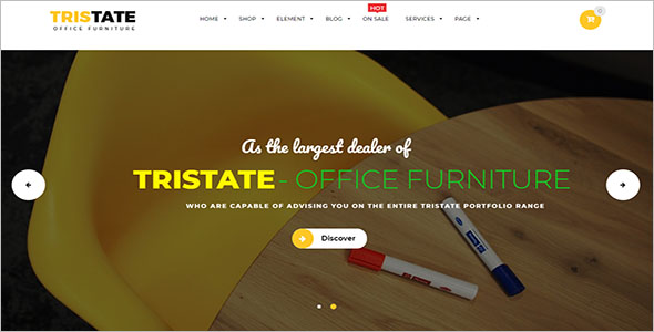 Office Furniture Woocommerce Template