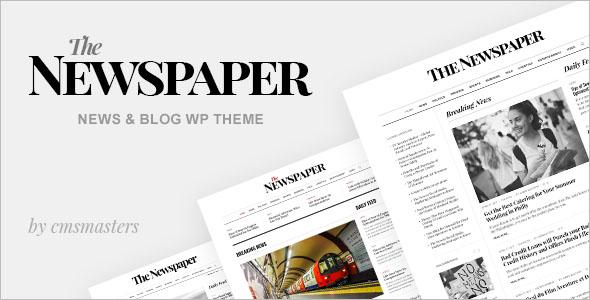 Old Style Newspaper WordPress Theme