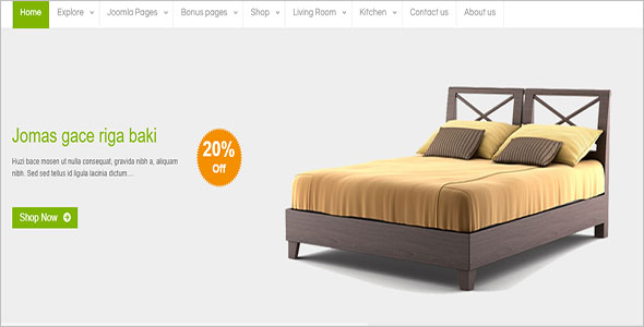 One Page Home Decor VirtueMart Template