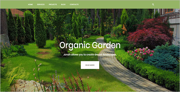 One Page Landscaping Blog Template