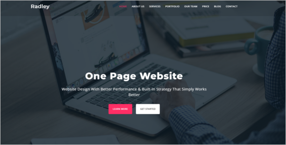 One Page Mobile Bootstrap Template
