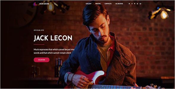 One Page Music Bootstrap Template