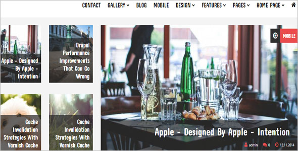 One Page News Drupal Theme