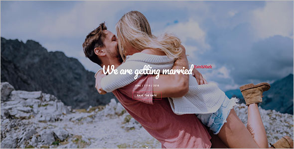 One Page Wedding Bootstrap Template
