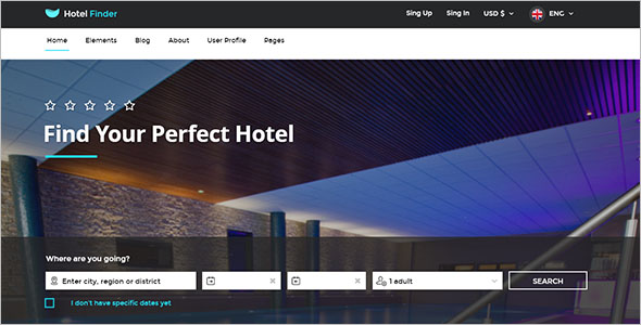Online Booking Resorts Website Template