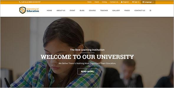 Online Course School Website Template